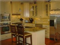 Gourmet kitchen with stainless appliances,  big island, and