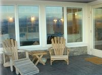 Sun deck provides plenty of space for teak table and chairs,