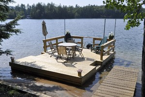 New Dock Boat and Motor in Beautiful Sandy Beach