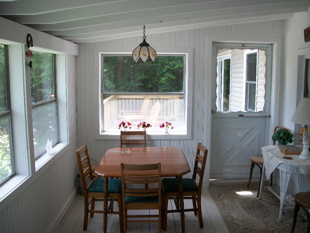 Enclosed Porch and Deck Looking South.
