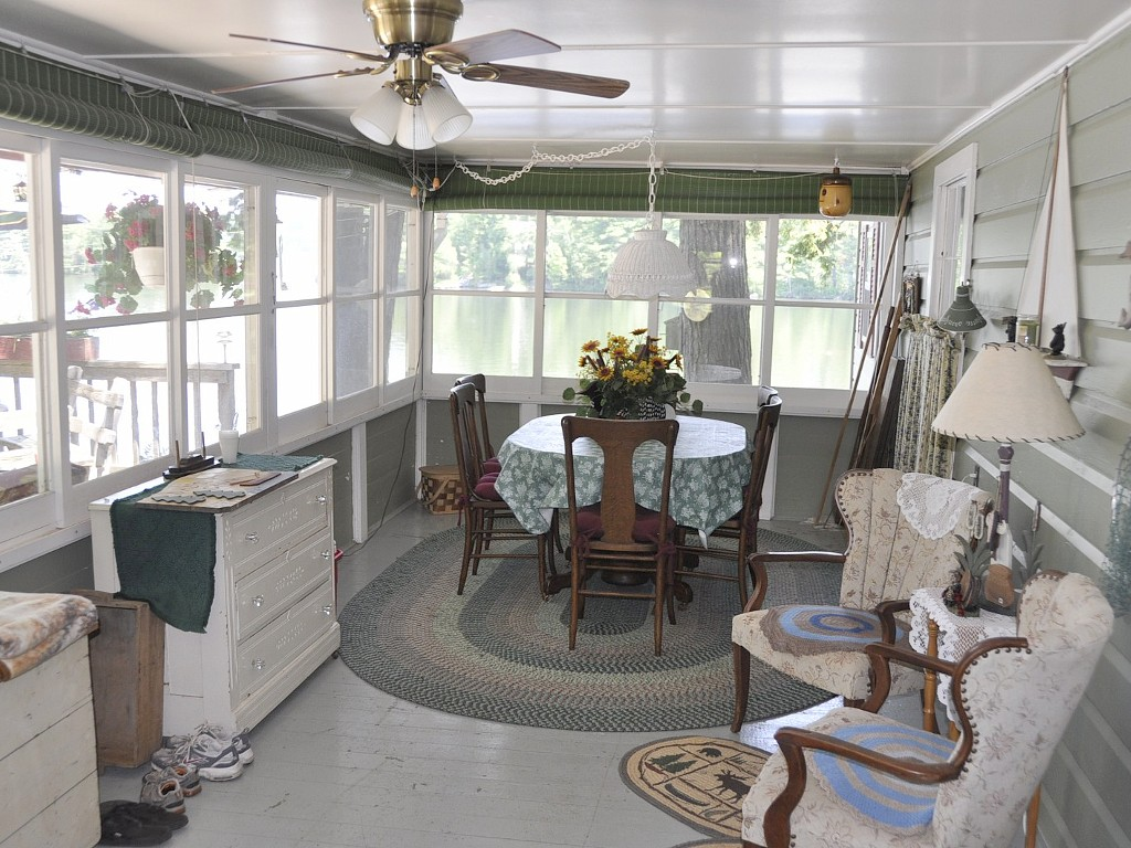 Screened and Enclosed Porch with Wonderful Lake Views