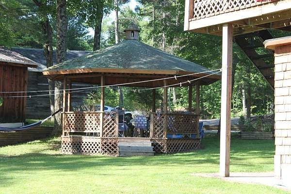 Gazebo which is perfect for grilling, beverages, meals and conversation