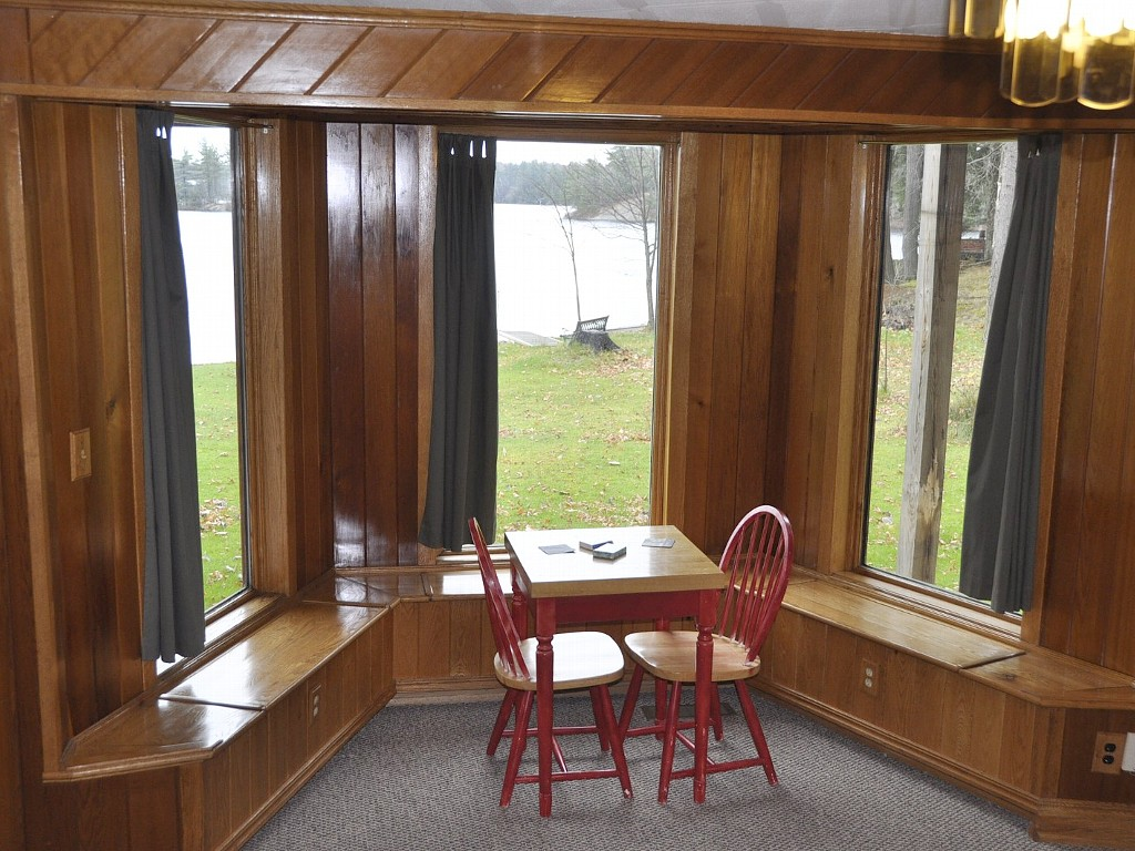 Kids game table on lower level with great lake views