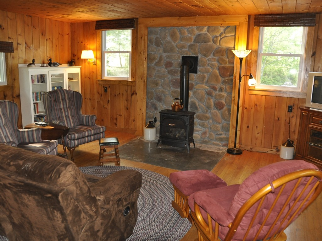 Comfy Living Room with Gas Stove.