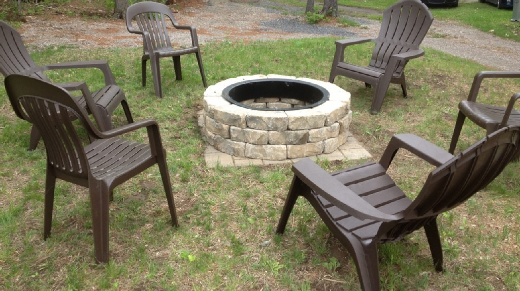 New Fire Pit: Perfect for S'mores and Camp Songs.