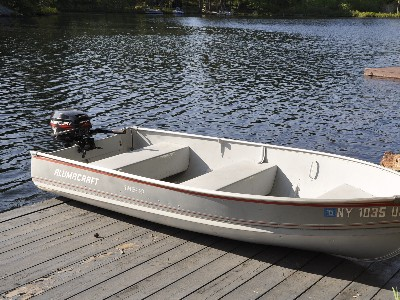 Motorboat for Cruising and Fishing.