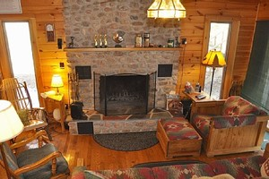 Cozy Den with Fireplace & Adjoining Deck
