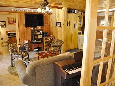 Flat Screen TV & Piano in Great Room