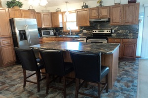 New kitchen, appliances, and large island
