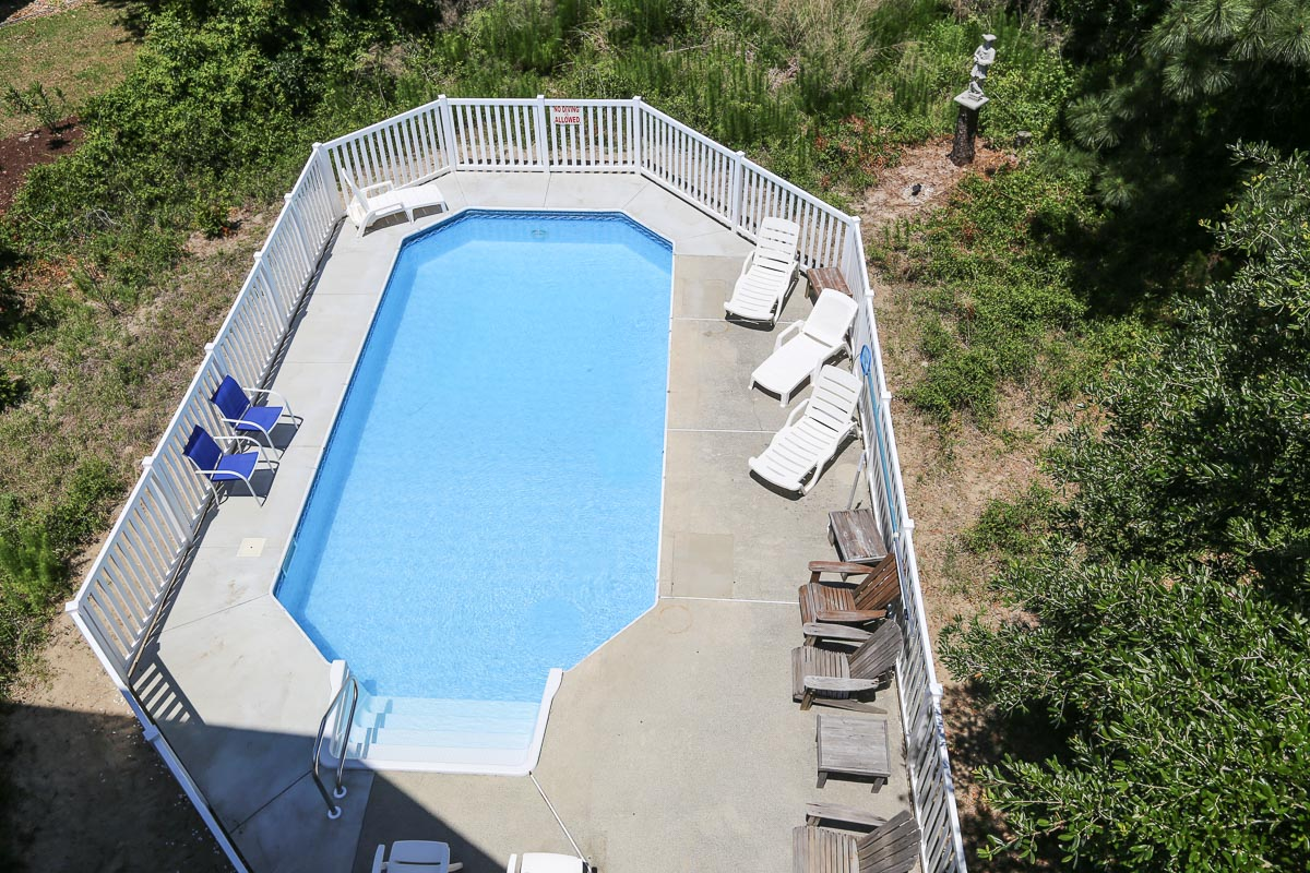 top deck view of the pool 2019