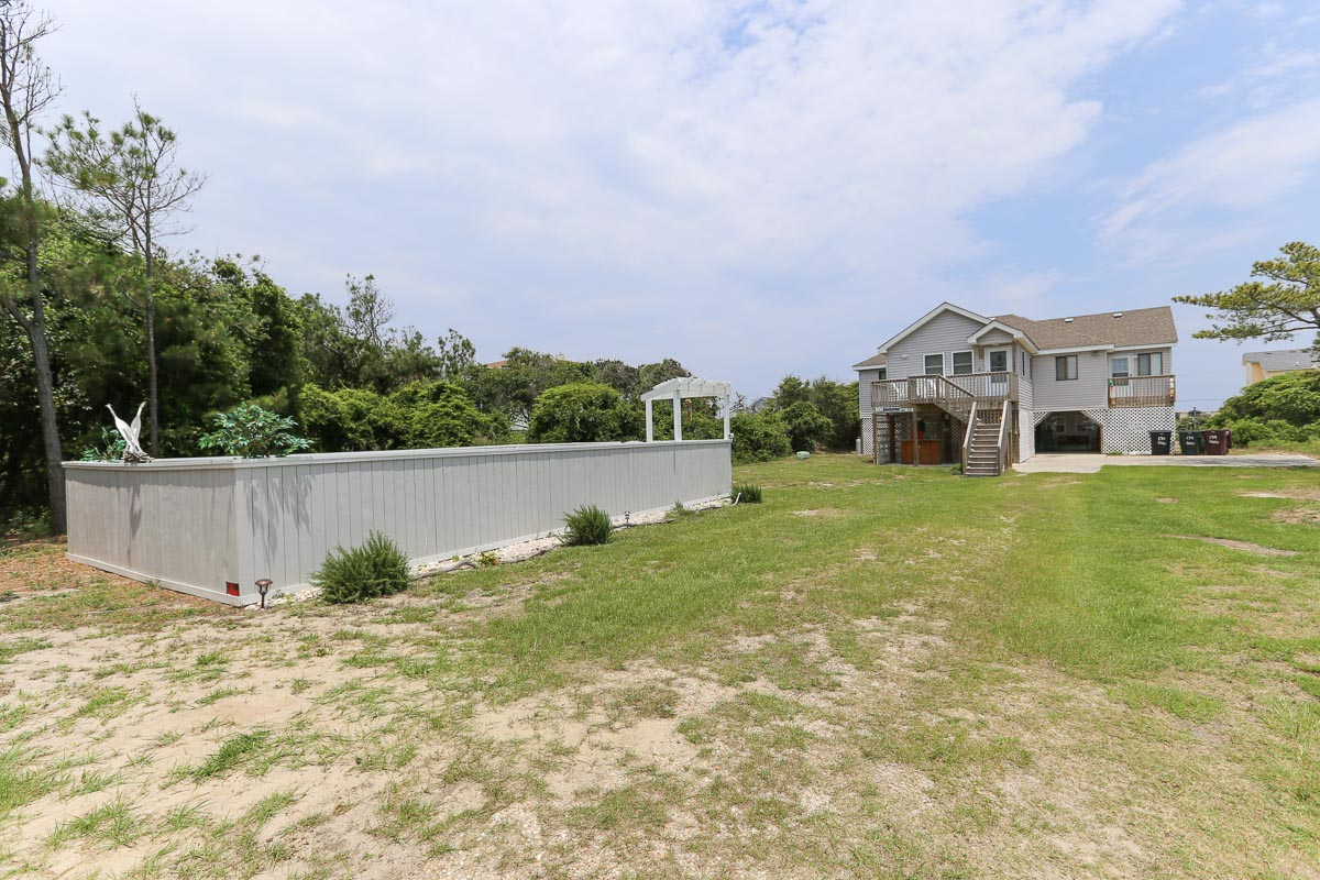 Oceanside Outer Banks Vacation Rental # 521 located on a beautiful large lot 2016