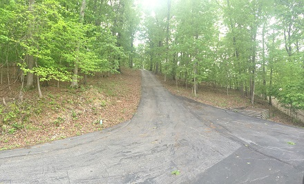 Driveway leading to home