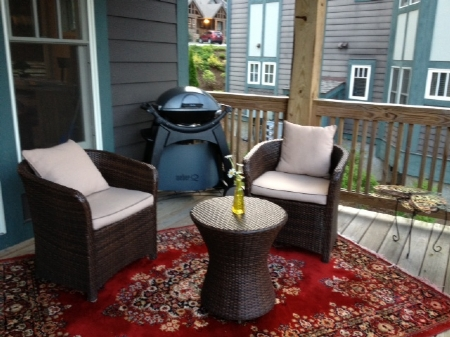 Deck Furniture and Electric Grill
