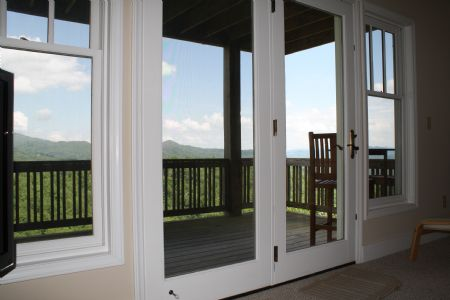 Picture Windows and Mountain View from Inside