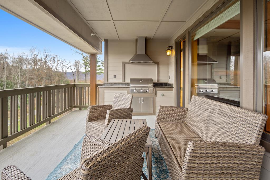 Deck Area with Built-In Grill