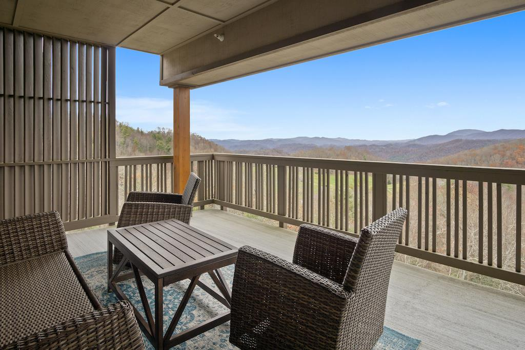 Deck Area with Mountain View