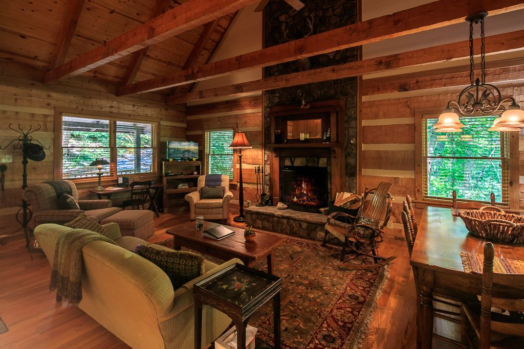 Living Room and Cozy Fireplace