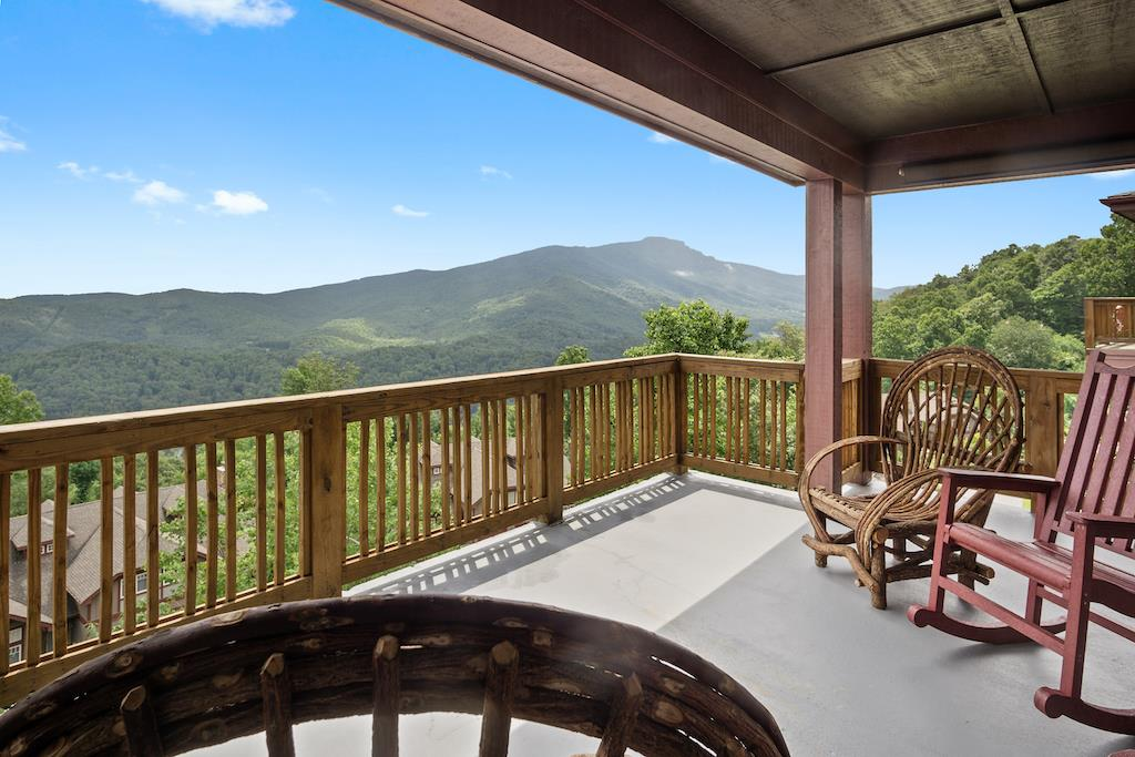Deck Area with Grandfather Mountain View
