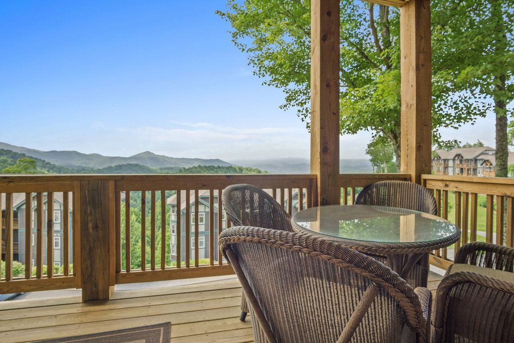 Deck with Mountain View