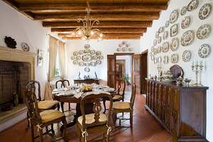 The beautifully furnished formal dining room on the ground l