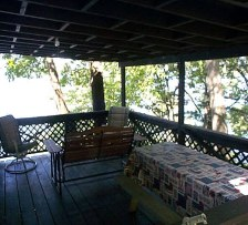PORCH OVERLOOKING THE LAKE