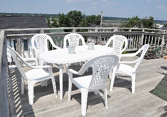 Third Floor Sun Deck.  Additional Chairs and Tables