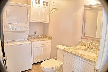 Bathroom and laundry off Kitchen