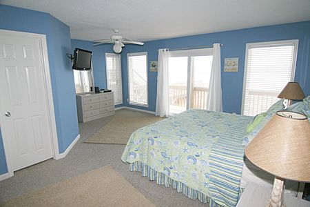 Master bedroom on lower level