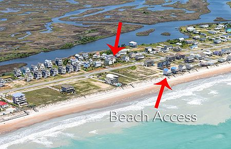 Aerial View with Beach Access