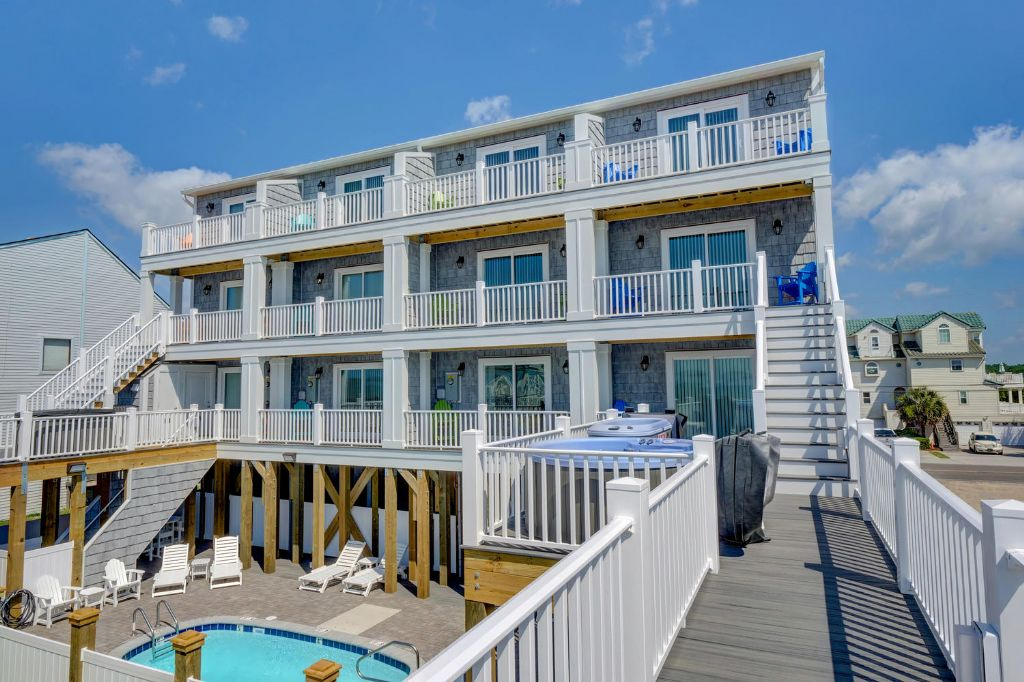Ocean Side View of Townhomes