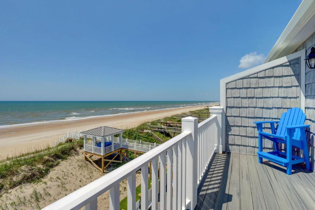 Top Level Oceanfront Deck View Looking Right