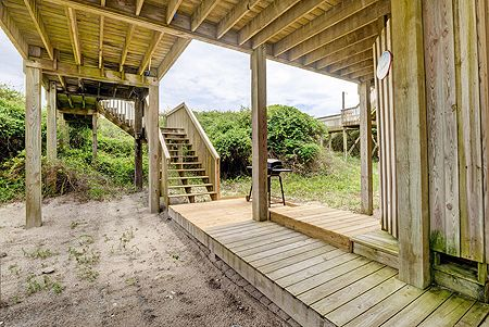 Stairs from Beach Down to Outdoor Shower