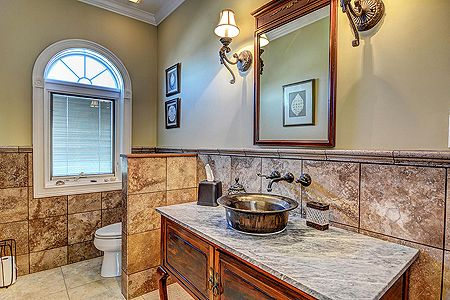 Lower Level Bathroom off of Living Area