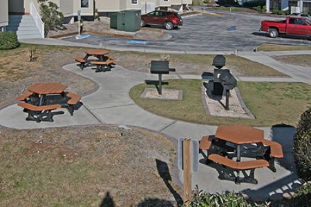 Grilling area on the grounds