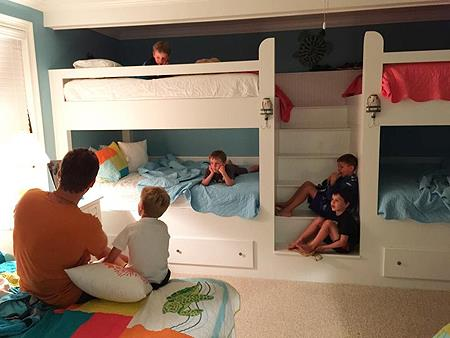 Kids love the space in the bedrooms