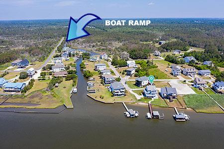 Aerial View Boat Ramp Location