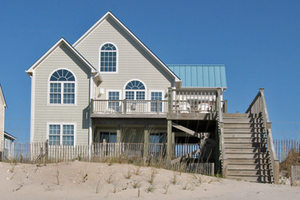 View of home as seen from beach