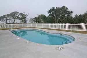 Pool is shared by both sides of duplex