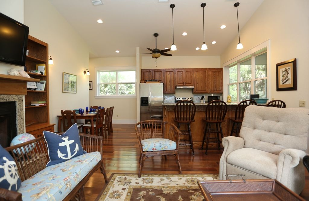Living Room, Kitchen, Dining