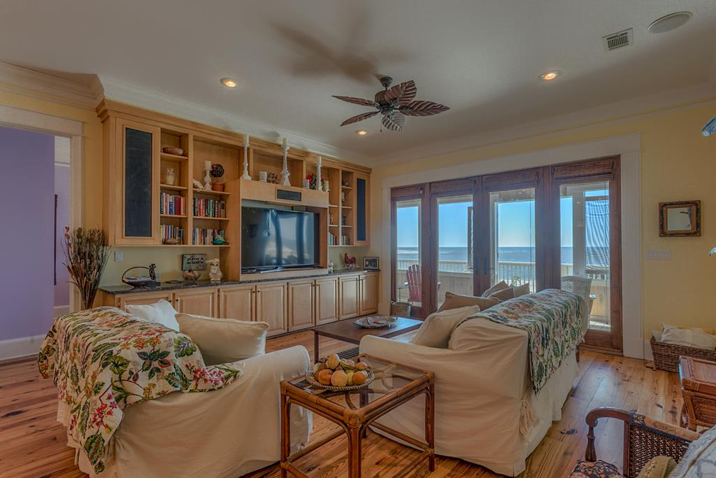 Living Room with TV & View