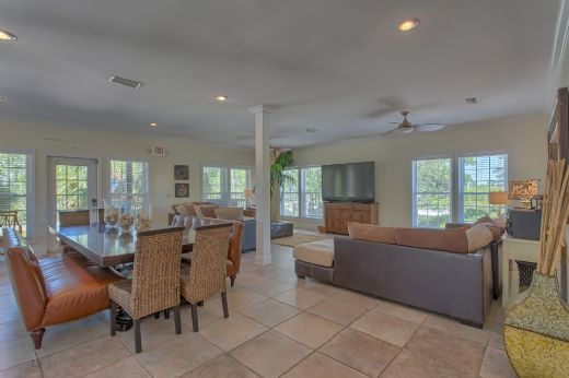 Living Room and Dining Area-Main Level