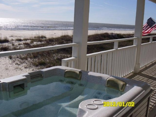 Hot Tub on Gulf Front Porch