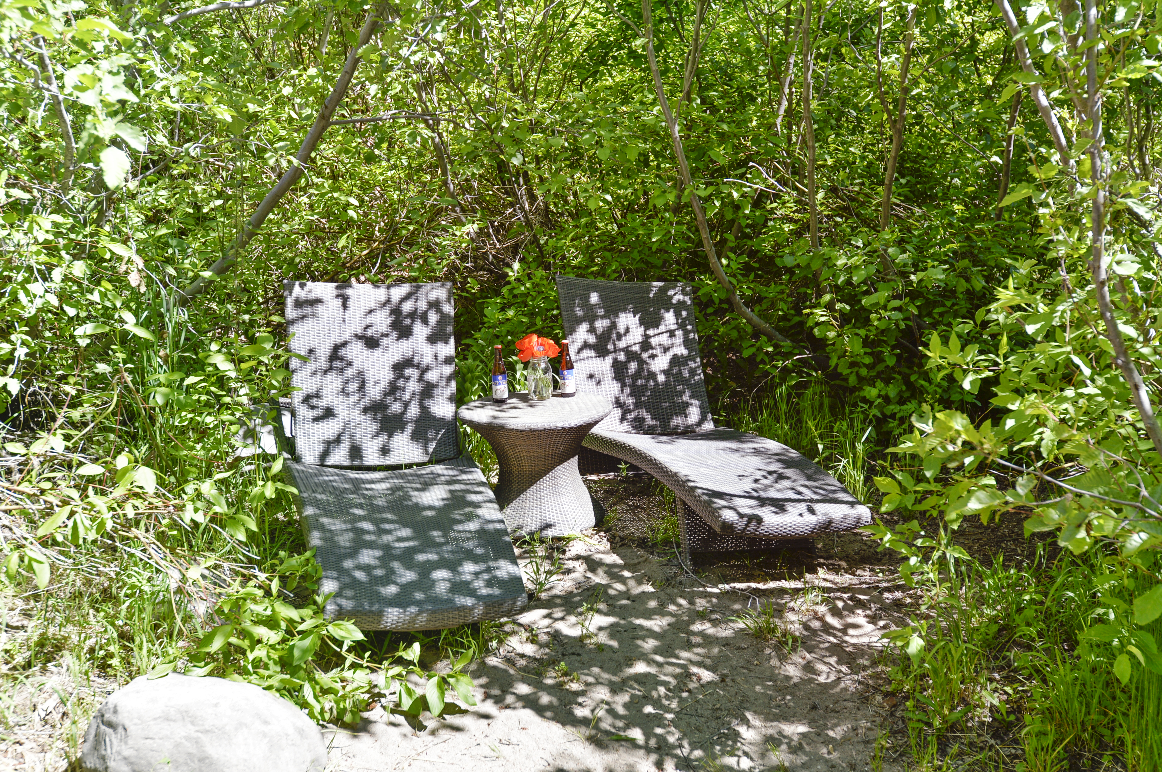 Secluded lounge area