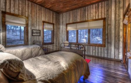 Bedroom with 2 twins and private deck