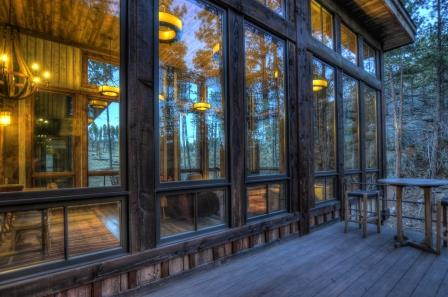 Deck of this retreat in the Black Hills
