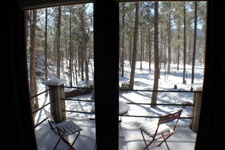 View off the master bedroom deck in this BH retreat