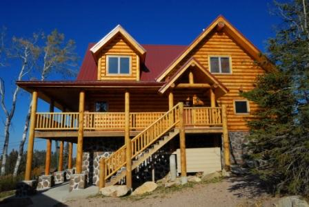 Back view of Liberty Lodge, tons of covered deck space