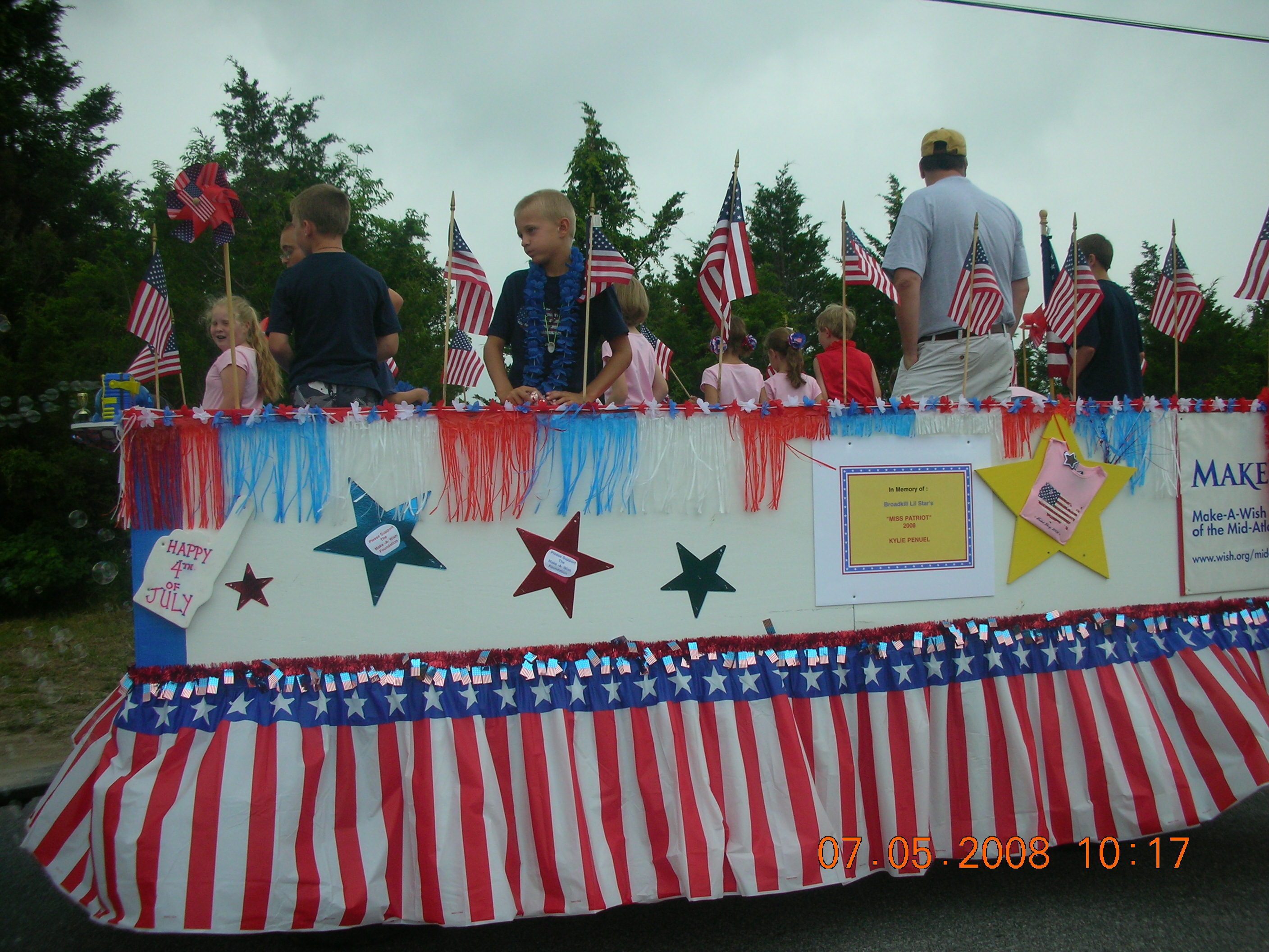 Participate in, or Watch, July 4th Parade from Front Porch