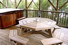 Relax in the HotTub or Enjoy a Meal in Secluded, Screened Ga