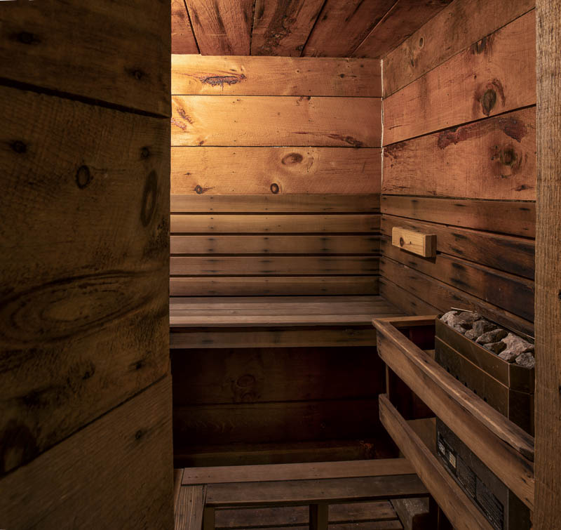 Large Sauna for Relaxing after Skiing